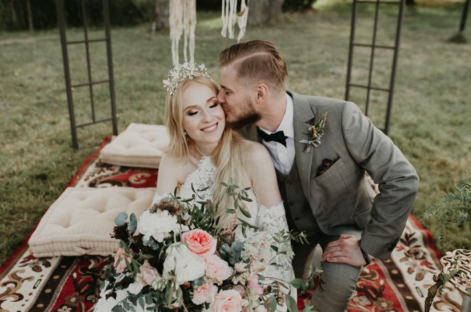Klaudyna i Michał - ślub w stylu boho